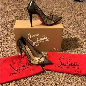 276e64cc4724 Christian Louboutin Shoes - LACE 554 100 RETE DENT LAQUE SUEDE LAME 35.5